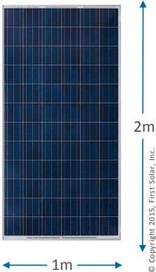 2m 1m © Copyright 2015, First Solar, Inc.