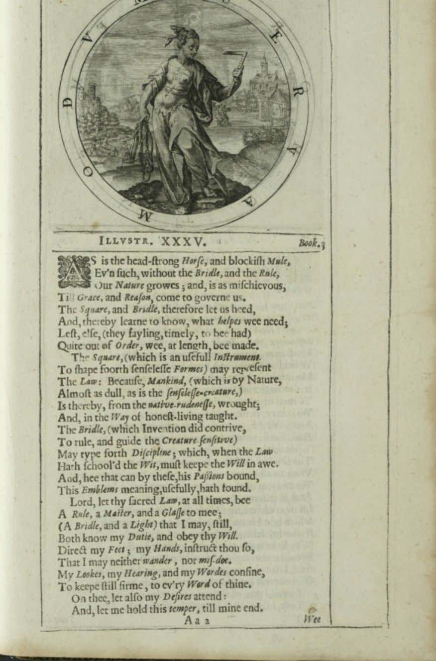Fig. 18. George Wither, A Collection of Emblemes (A. M. – R. Allot, London 1635),