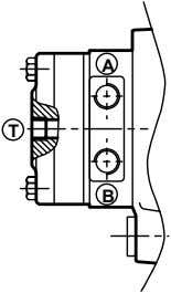 to the diagrams below: Internal drainage External drainage c) Brake control Gearmotors equipped with a brake,