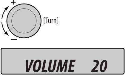 not connected. ! For FM/AM tuner ⁄ Adjust the volume. @ Volume level appears. Adjust the