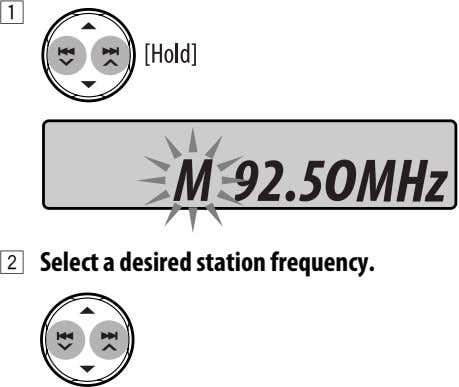 1 2 Select a desired station frequency.
