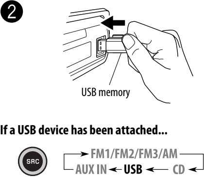 Ÿ USB memory If a USB device has been attached