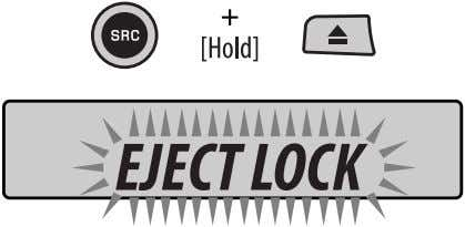 disc ejection You can lock a disc in the loading slot. A : Clock with the