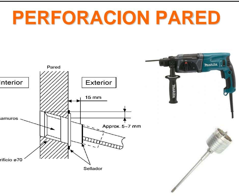 PERFORACION PARED