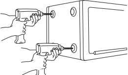 onto its left side (door hinges horizontal with the floor). Unlock the safe and open the