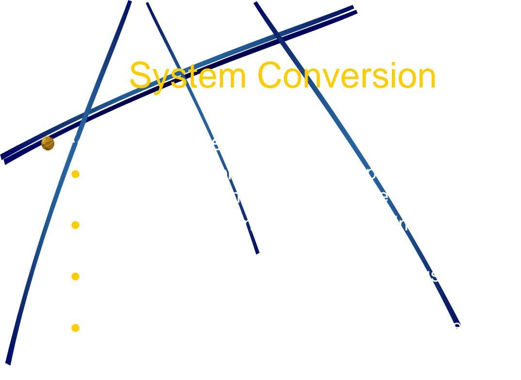 System Conversion Four approaches  Direct conversion – the user simply stops using the old system