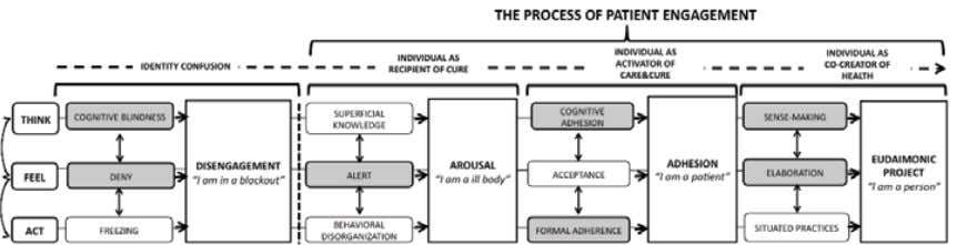 of individuals in their care & cure management. Figure 3.3: The Process of Patient Engagement (Adapted