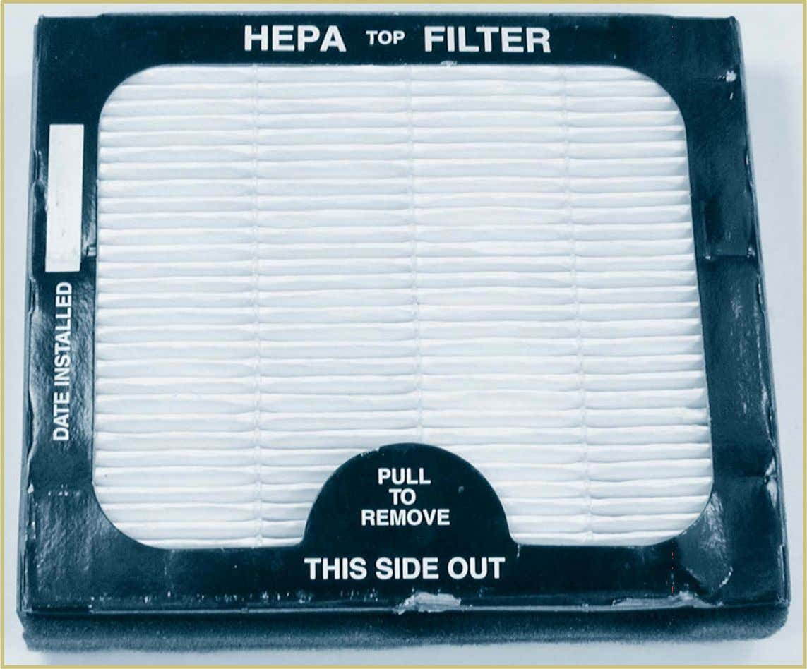 of the drum surfaces and the remainder of the brake system. FIGURE 11—A HEPA filter prevents