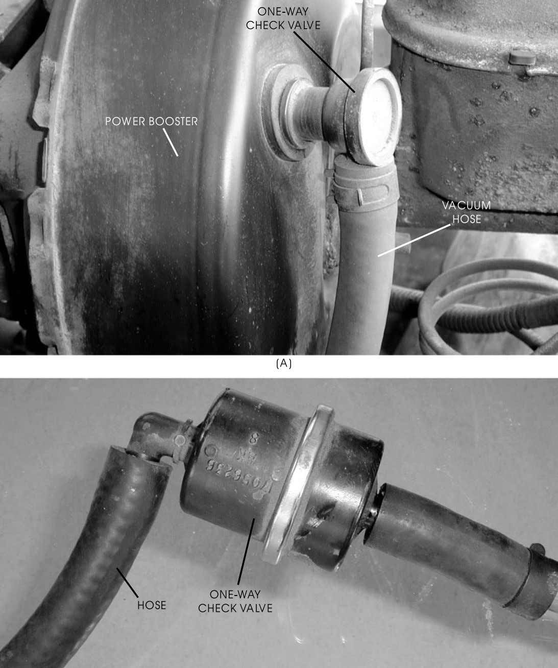 Automotive Braking Systems 47 FIGURE 34—The check valve is a very important component of the power