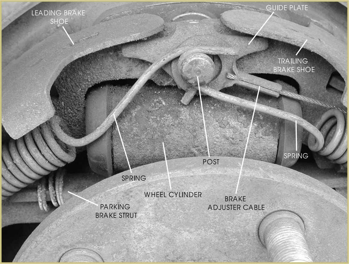 must be repaired before the brake system can be serviced. FIGURE 58—This view shows the top