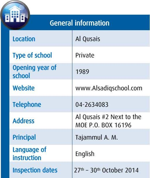 General information Location Al Qusais Type of school Private Opening year of school 1989 Website