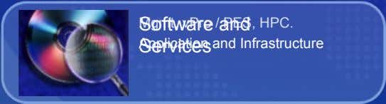 Software and Mgmt, vPro / PES, HPC. Application and Infrastructure Services