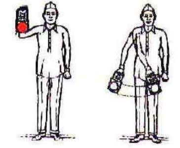 body of the person showing the signal as illustrated below: 3.54 Proceed hand signal.- Indication: How
