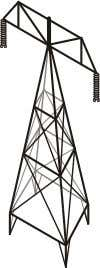 Electricity pylons are good examples of frame structures. Shells are structures where its strength comes from