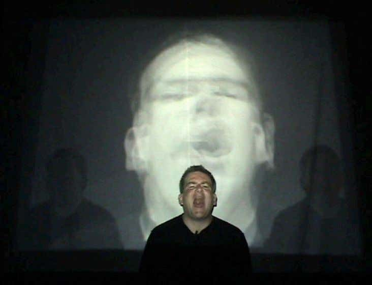 12. Breathing in B Flat , 2007, performance view 13. St. Frank and the Wolf