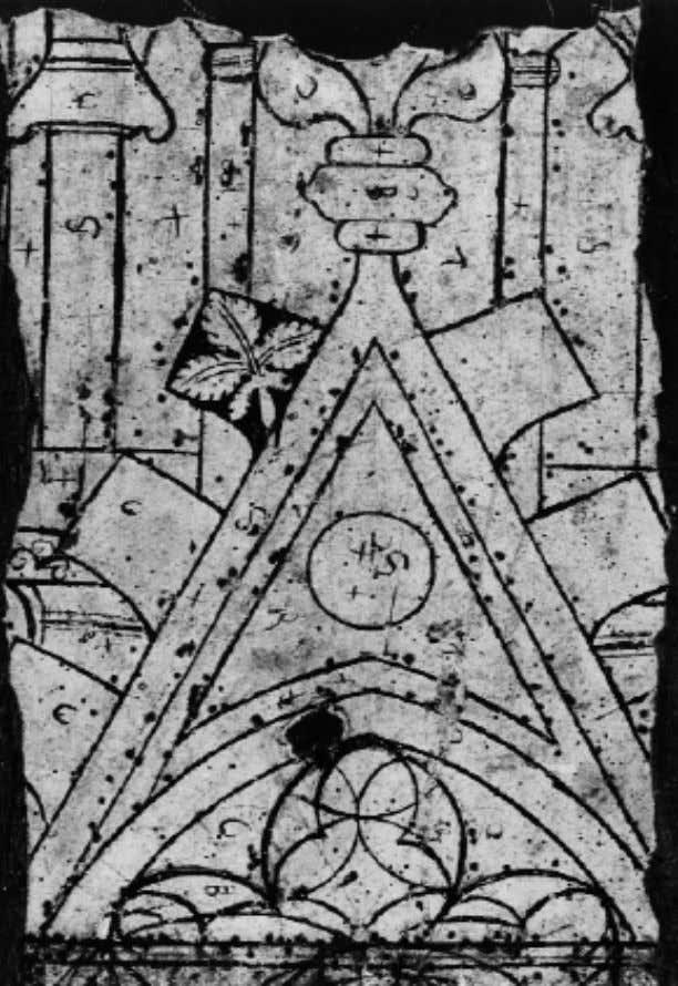 Fig. 2 Gir ona, Cathedral :Glaziers Table ; ca. 1350. Résumés des communications lundi 3