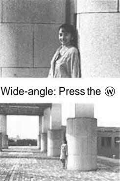 Wide-angle: Press the