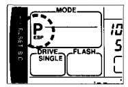 the FILL-IN Flash mode. Press the shutter release button. In exposure modes other than Program, the