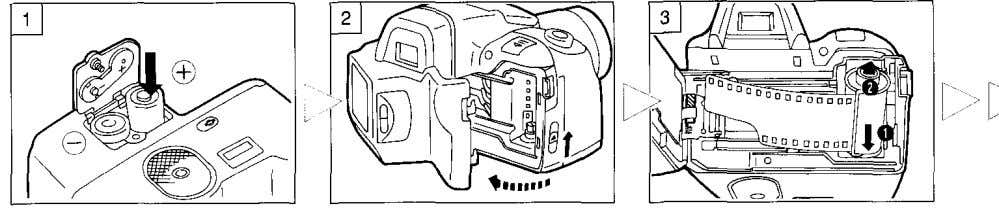 OUTLINE OF OPERATIONS Basic Shooting Procedures Load the batteries (p. 10). Open the back cover (p.