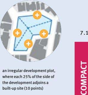 7.1 an irregular development plot, where each 25% of the side of the development adjoins