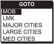 GOTO MOB LMK MAJOR CITIES LARGE CITIES MED CITIES