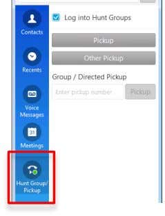 pick up incoming calls to another group by way of group DN • Utilises same tab