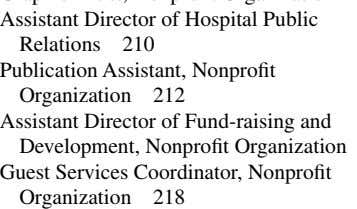 of Fund-raising and Development, Nonprofit Organization Guest Services Coordinator, Nonprofit Organization 218