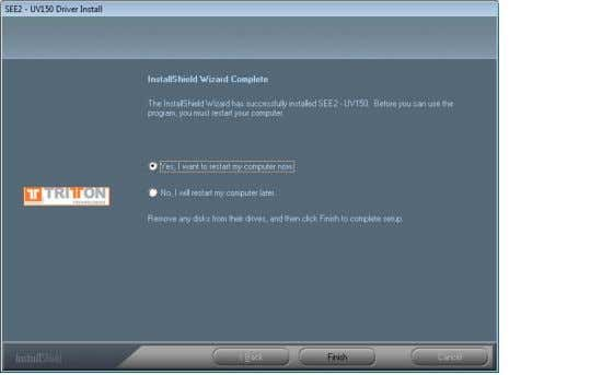 "EXTERNAL VIDEO ADAPTER Step. 6 Driver Installation Wizard, click "" Finish "" to continue and restart"