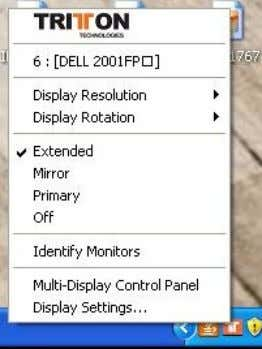 desktop of your system. You can change the relative position of this extended desktop under the