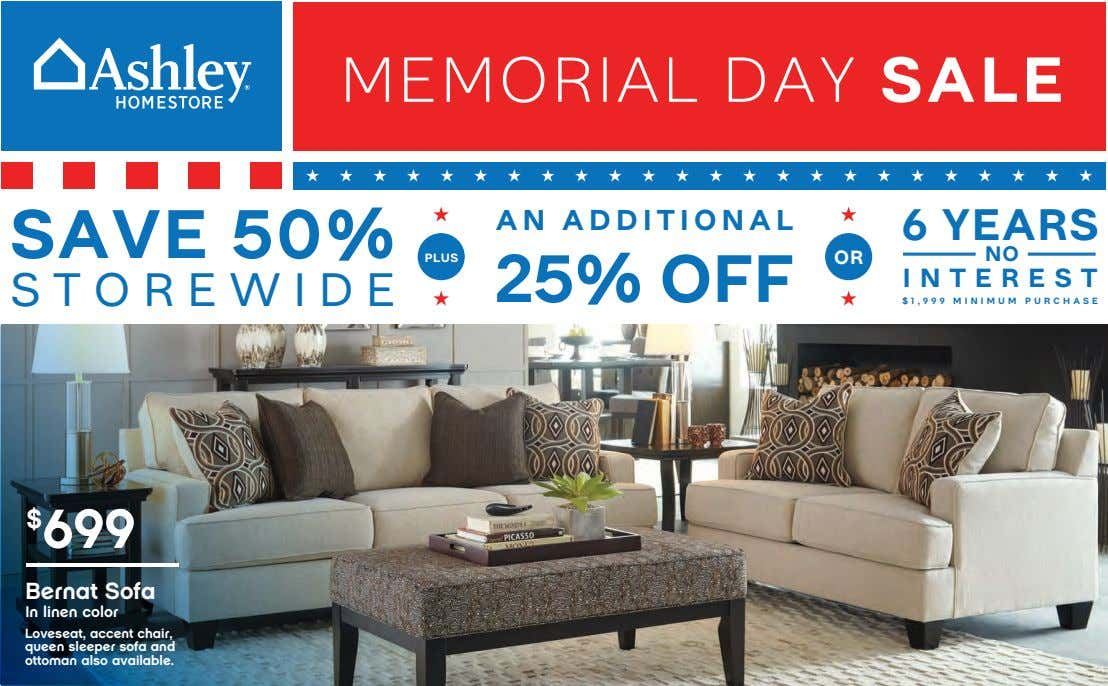 MEMORIAL DAY SALE SAVE 50% AN ADDITIONAL 6 YEARS PLUS OR NO 25% OFF INTEREST