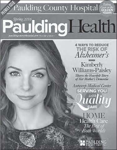 older brings with it a new set of health challenges for most Paulding Health magazine is
