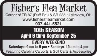 Fisher's Flea Market Corner of TR 87 (Duff Rd.) & SR 235 • Lakeview, OH