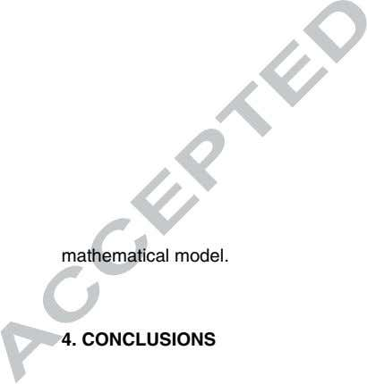 mathematical model. 4. CONCLUSIONS