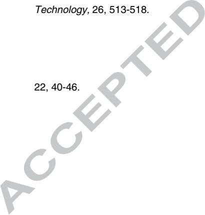 Technology, 26, 513-518. 22, 40-46. transfer modeling of the
