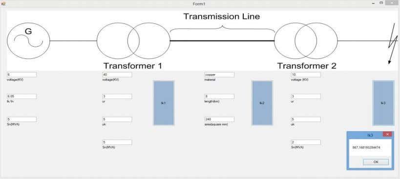 power generator, two transformers and a transmission line. Figure 4-2 Example 1 Figure 4-2 shows a