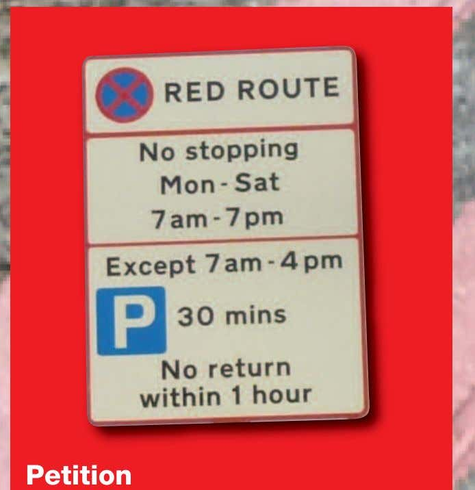 Petition The petition for 1 hour free parking in Wickham Road and a disabled bay