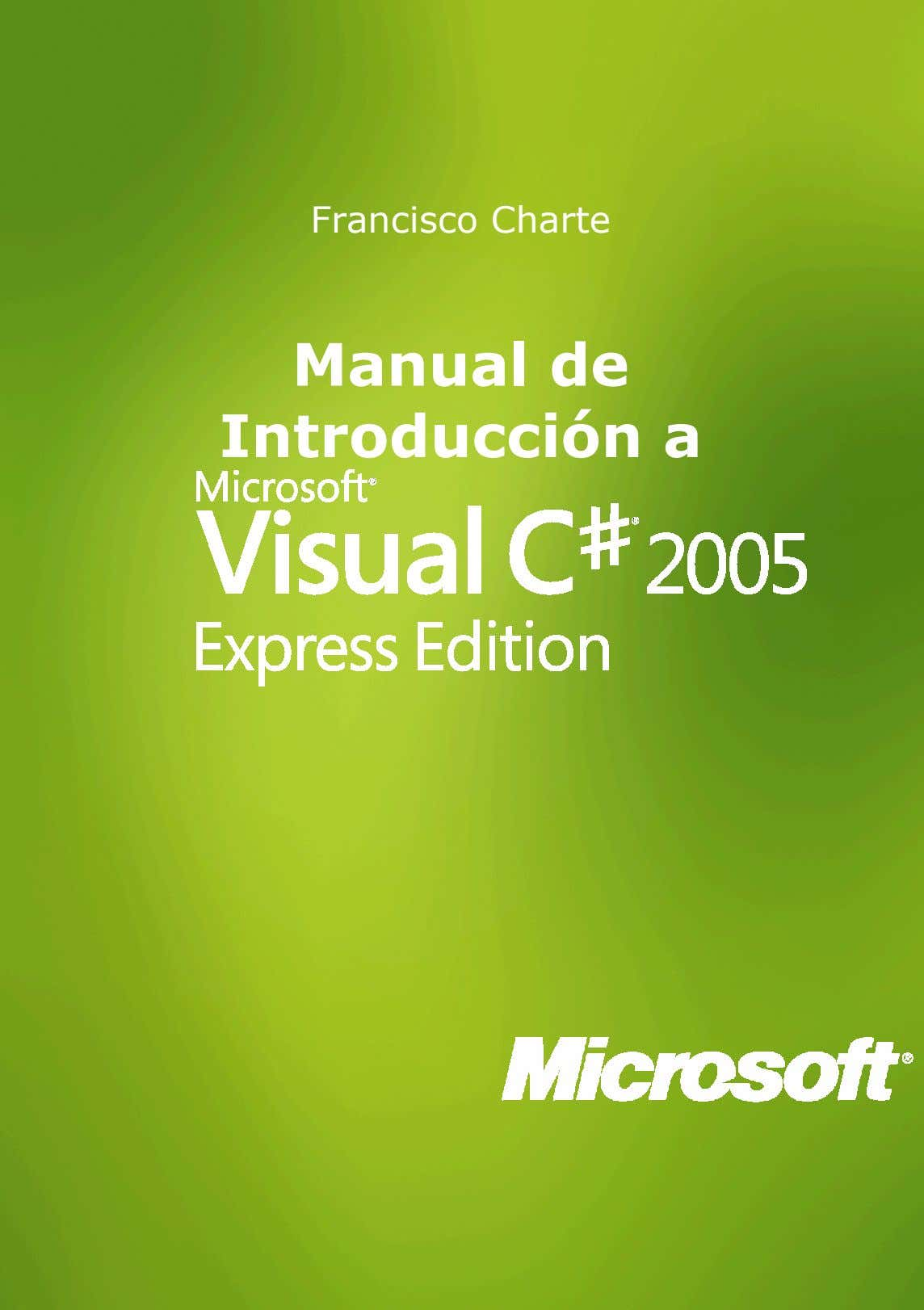 Francisco Charte Manual de Introducción a 1