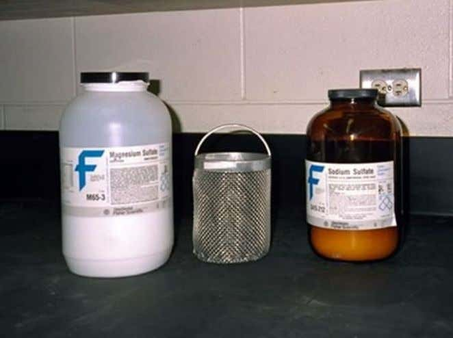 Chemicals and wire mesh basket CHEMICAL SOLUTION  Sodium Sulphate Solution  Magnesium Sulphate Solution PREPARATION