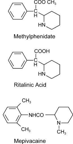 acetonitrile (Accusolve) and ethyl acetate were obtained Fig. 1. Structures of MPH, RA, and internal standard