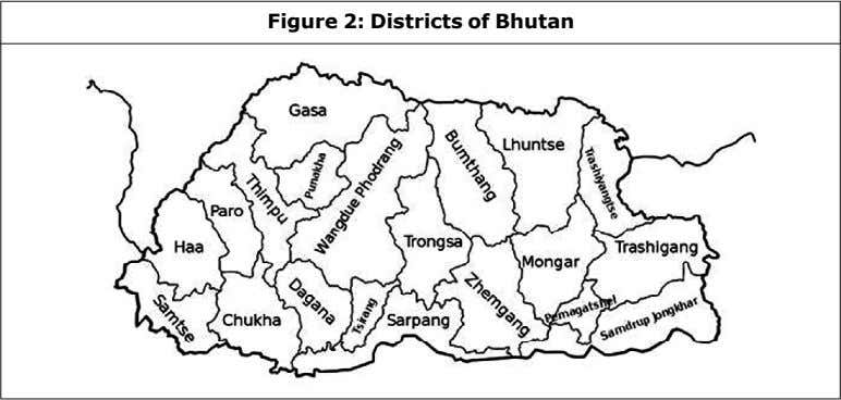 Figure 2: Districts of Bhutan