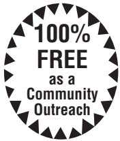 100% FREE as a Community Outreach