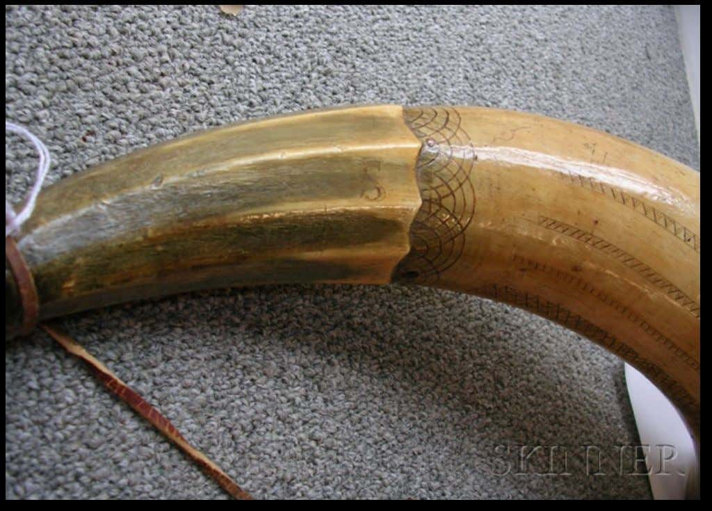 "Powder Horn Made at Fort No. 4, New Hampshire ""HIS HORN"" (Skinner) c. 1750"