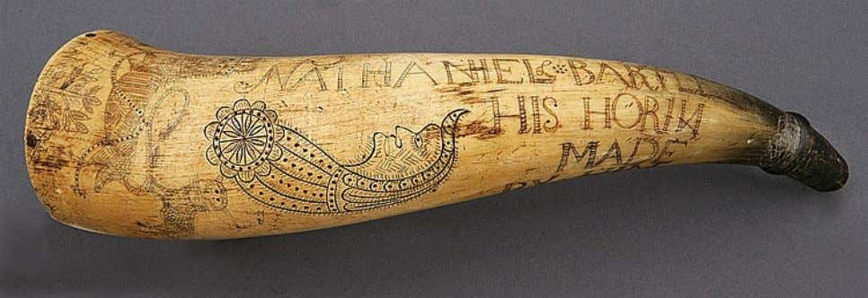 "Powder Horn Carried by Nathaniel Bartlett of Albany, New York ""NATHANIEL BARTLETT - HIS HORIN"