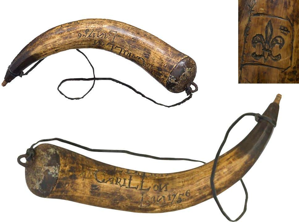 Powder Horn Carried by Major Lewis DuBois of New York Who Fought During the Revolution