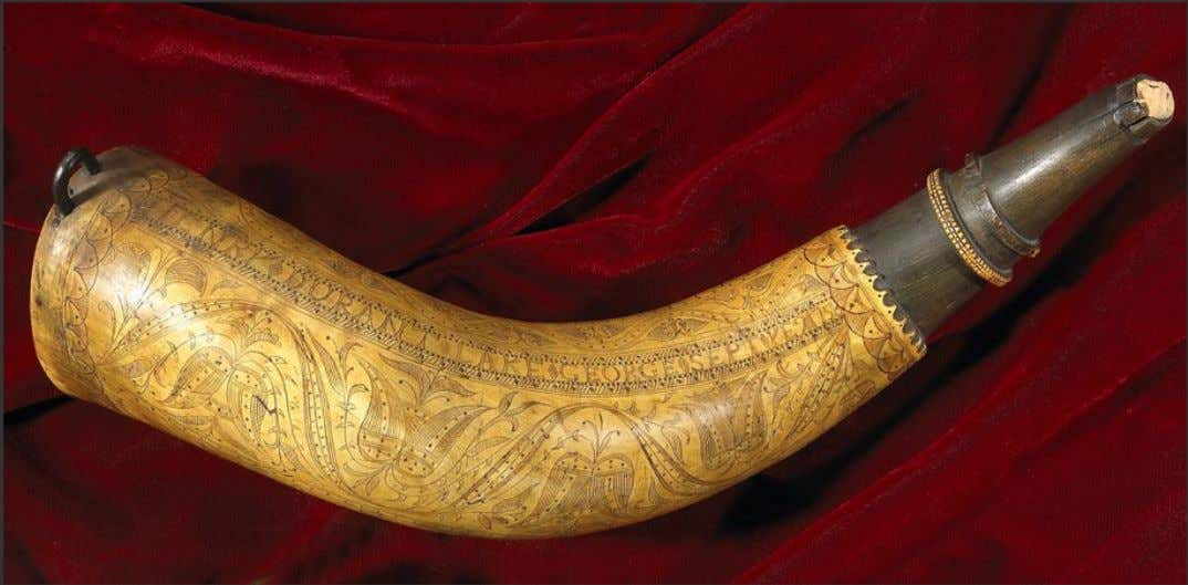 "Powder Horn Carried by Henry Durant "" Henry Durant Lake George Sept Ye 1 1758"""