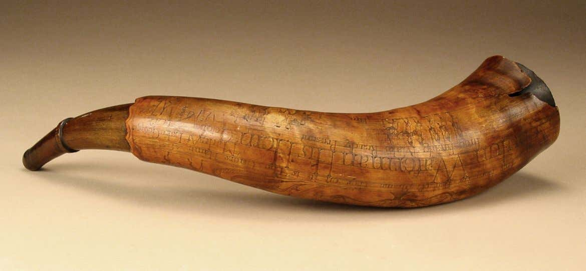 Powder Horn Carried by Zebulon Waterman Carved by Selkirk-Page at Lake George, New York October