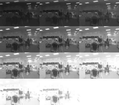 aberration, blooming, and the modulation transfer function. Figure 3: (a) Eleven grayscale photographs of an indoor