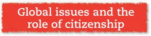 Global issues and the role of citizenship