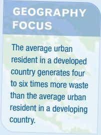 GEOGRAPHY FOCUS The average urban resi dent in a developed country generates four to s