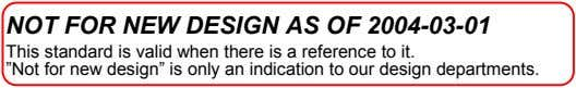 NOT FOR NEW DESIGN AS OF 2004-03-01 This standard is valid when there is a